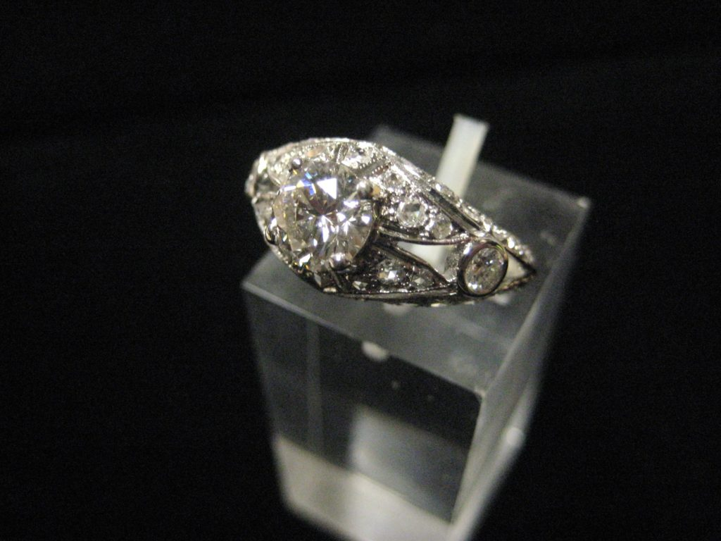 Diamond vintage inspired ring