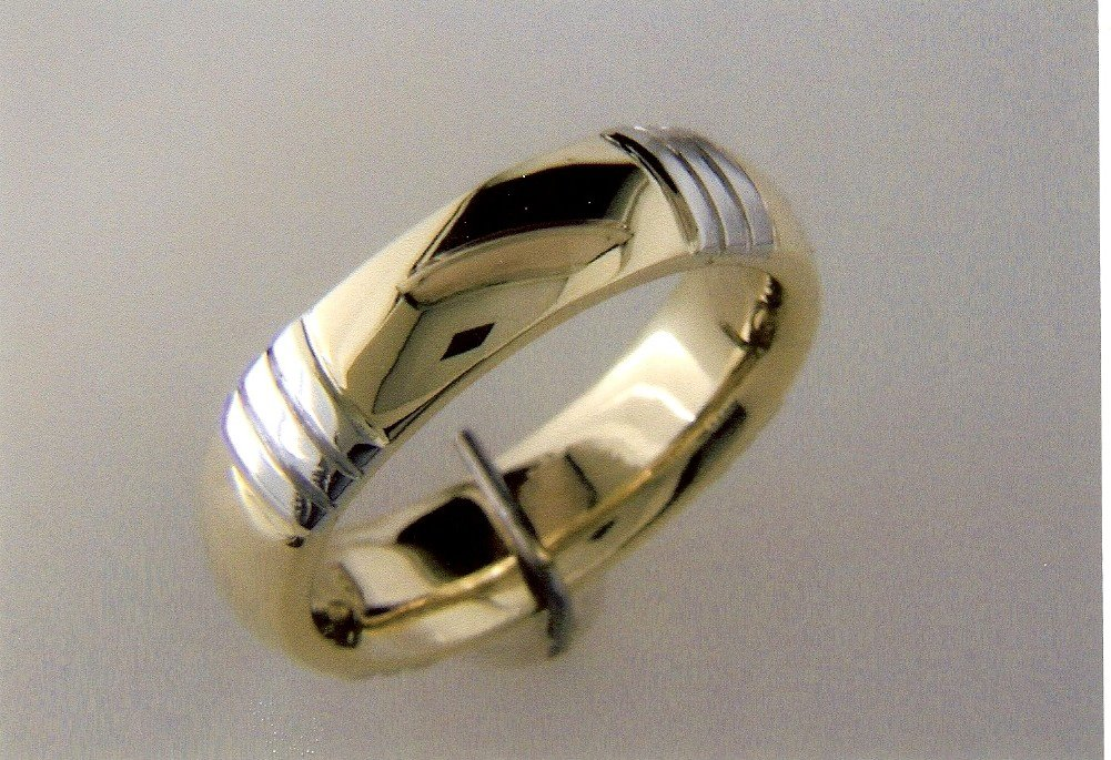 gold and white gold ring