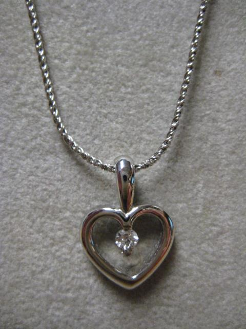 heart with diamond pendant