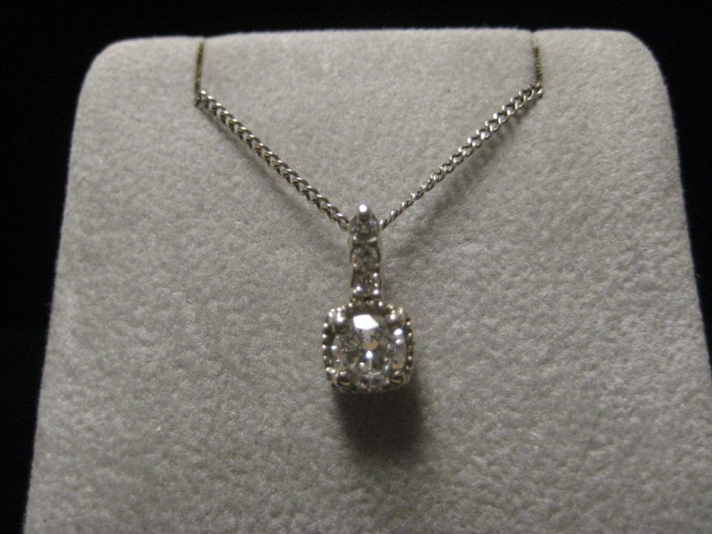 nice diamond pendant